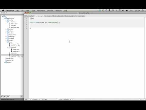 Creating Your First Template With CodeIgniter - YouTube