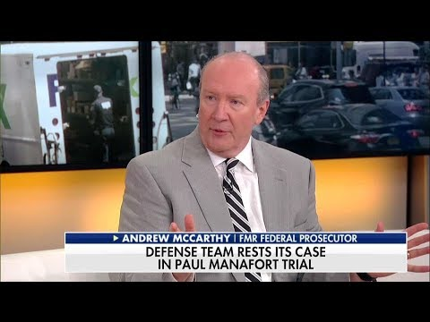 McCarthy: Mueller's Biggest Mistake in Manafort Trial Was Giving 'Shameful' Plea Deal to Gates
