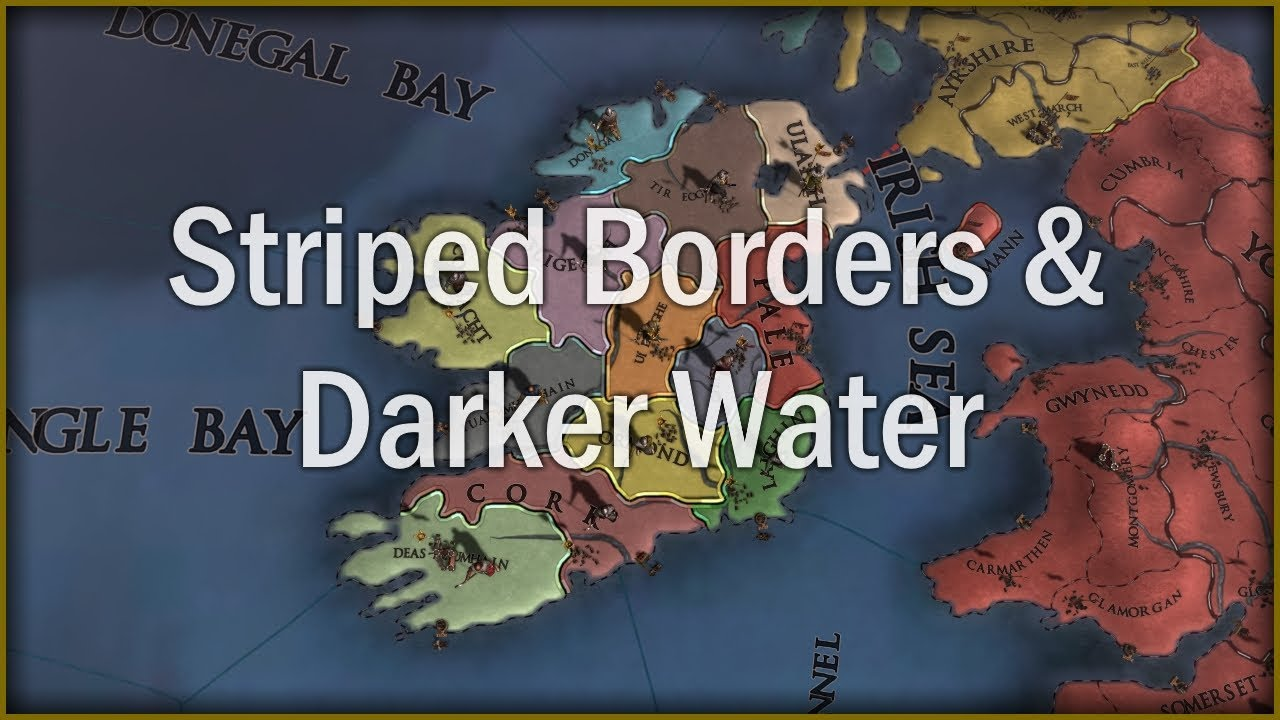 My New EU4 Mod: Striped Borders and Darker Water