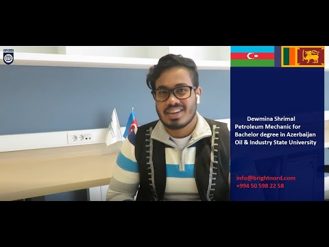 Thanks Dewmina Shrimal from Sri Lanka shares his student experience in Azerbaijan