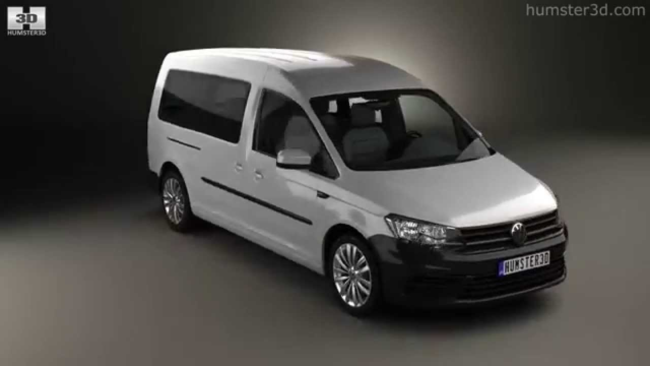 volkswagen caddy maxi trendline 2015 by 3d model store youtube. Black Bedroom Furniture Sets. Home Design Ideas