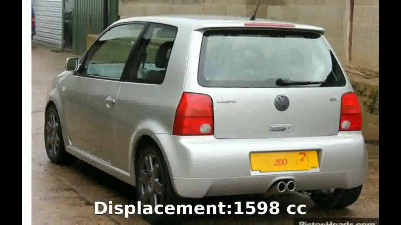 Worksheet. 2001 Volkswagen Lupo 16 GTi  Info and Specification  YouTube