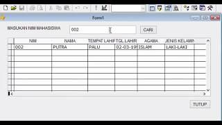 Tutorial Membuat Form Pencarian Data menggunakan Visual Foxpro & Dtabase MySQL (3/4)
