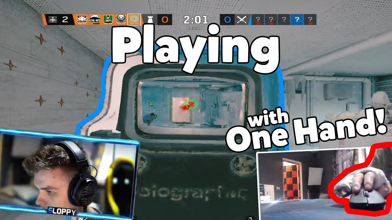 Download PLAYING SIEGE WITH ONE HAND!   Stream Highlights ► Sloppy-.NLE
