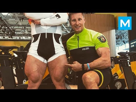 STRONGEST CYCLIST with Monster Legs - Robert Forstemann | Muscle Madness