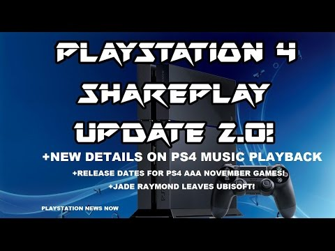 Playstation News Now PS4 Share Play/USB Music Playback Update 2.0 New Details+November PS4 Releases