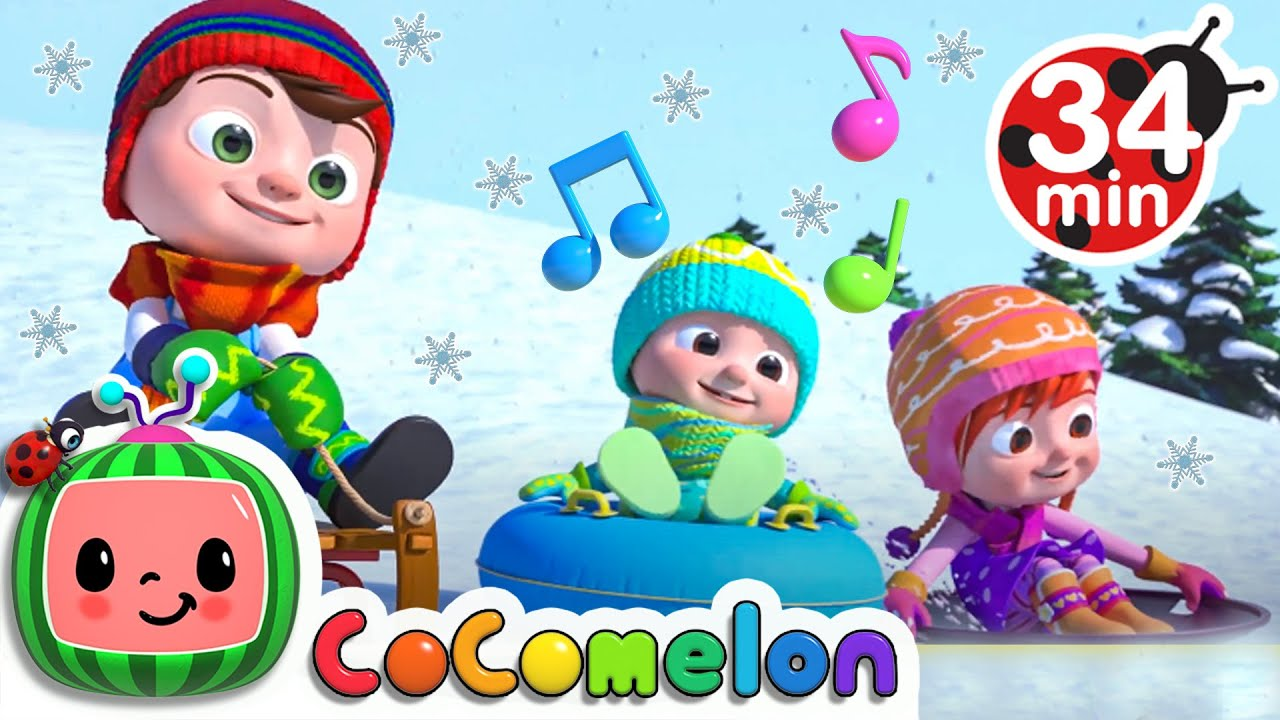 Winter Song - Fun in the Snow Song | CoComelon Nursery Rhymes & Kids Songs | Moonbug Kids ⛄🎄