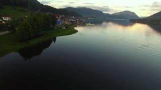 аэросъемка Горный Алтай, озеро Телецкое