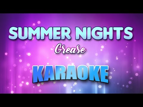 Grease - Summer Nights (Karaoke version with Lyrics)