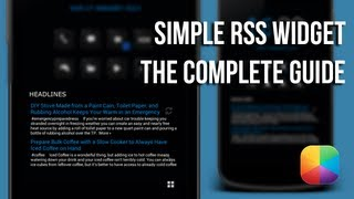 Simple RSS Widget - The Complete Guide
