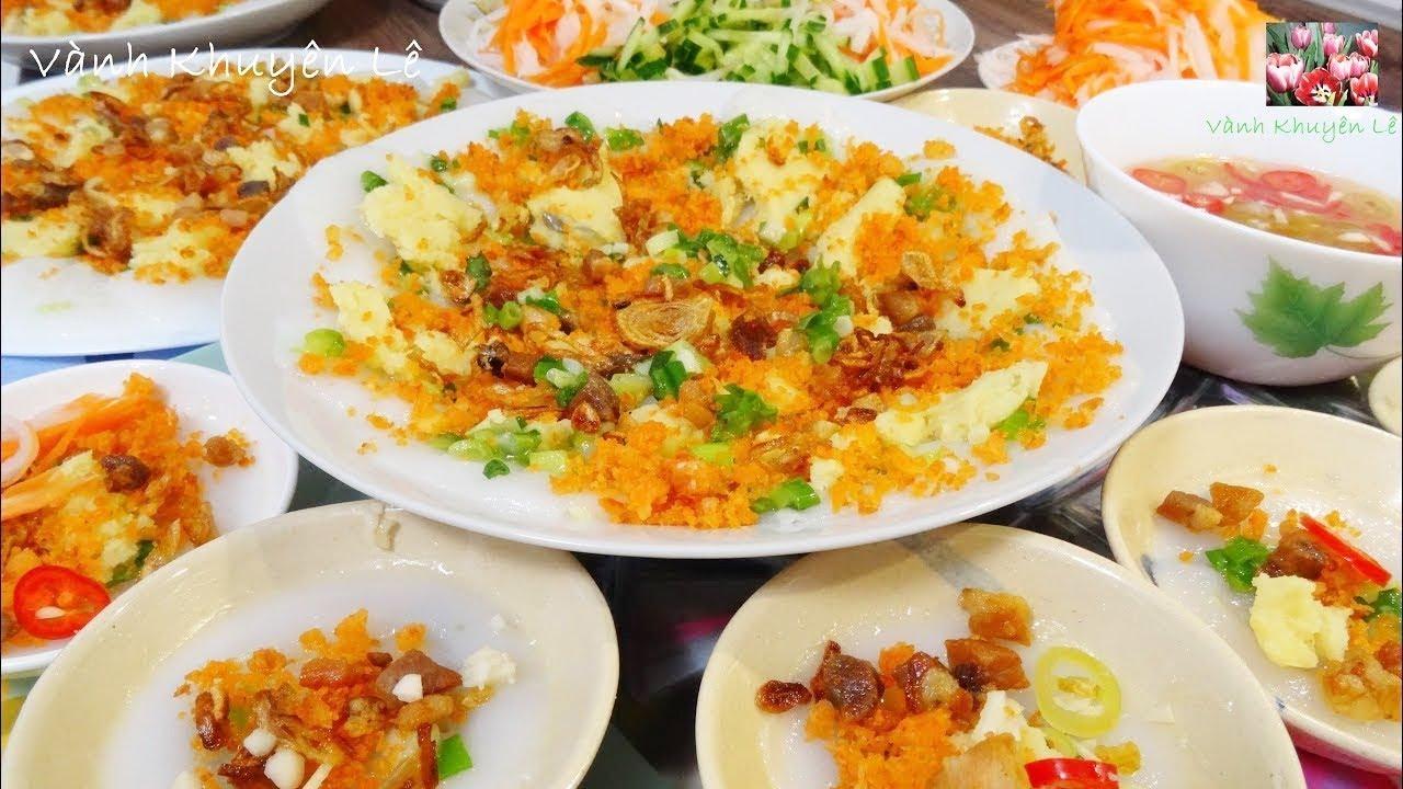 BÁNH BÈO – Cách ngâm pha Bột đổ Bánh Bèo chén, mềm có Xoáy, nhân Tôm chấy và đậu Xanh by Vanh Khuyen