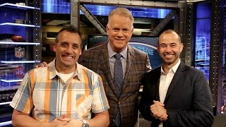 INSIDE THE NFL analyst Boomer Esiason teamed up with Impractical Jokers' Joe Gatto and James Murray to prank INFL host James Brown and analysts Phil ...