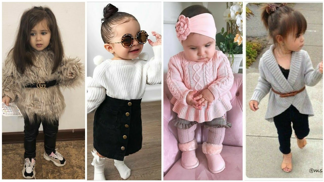[VIDEO] - Kids stylish winter outfit idea/ kids girls winter dress 6
