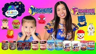 HUGE MASHEMS & FASHEMS MINI FIGZ Surprise Toys Disney Pixar Paw Patrol DC Comic Kids Toys Review