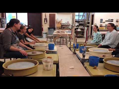 Clay Art Center Artist Teaches Tweens How to Use the Potter's Wheel