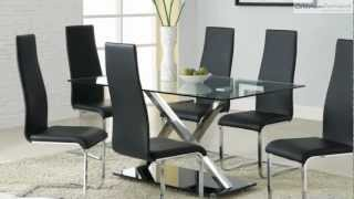 120 XY Black Chrome Dining Room Collection From Coaster Furniture(, 2012-11-27T07:50:19.000Z)