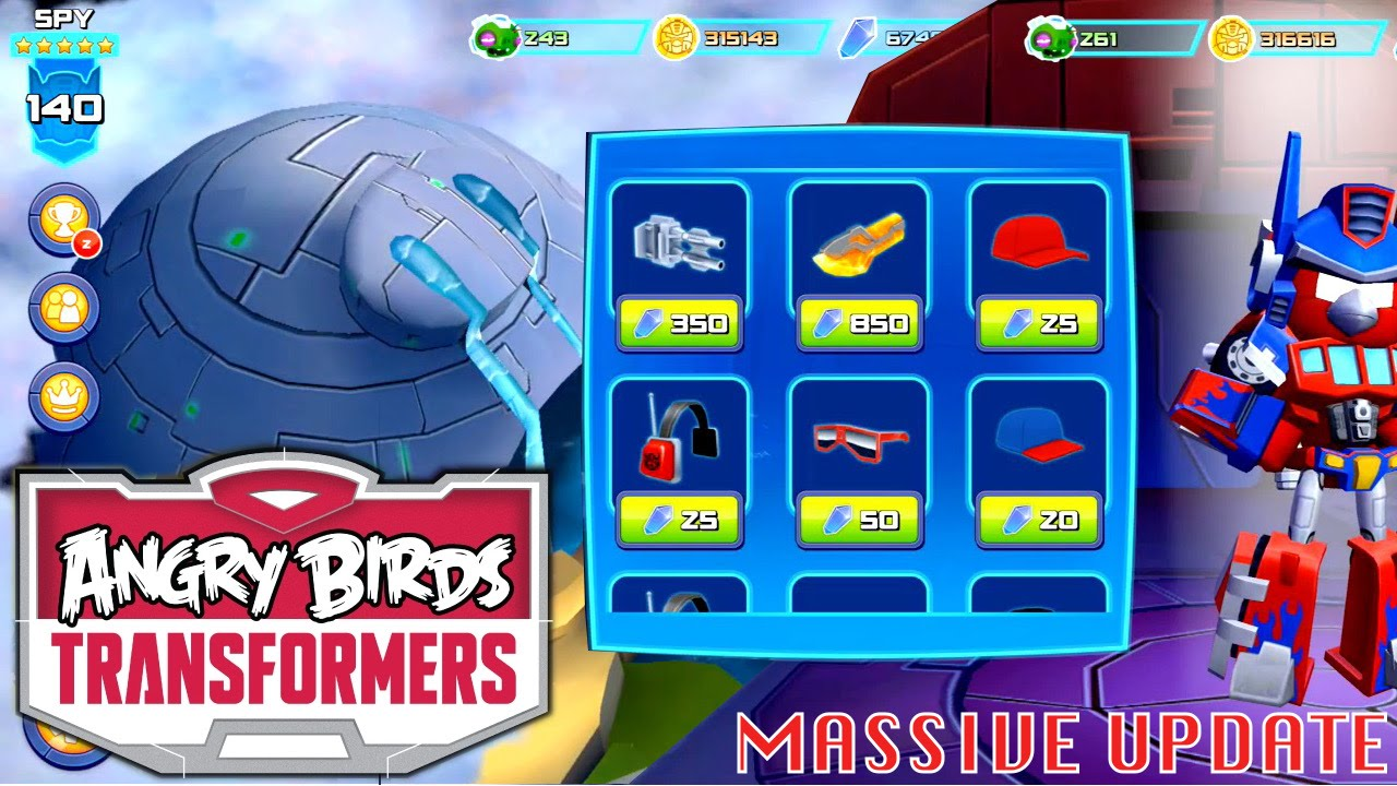 Lets Play Updated Angry Birds Transformers  New Levels