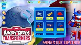 Let's Play Updated Angry Birds Transformers - New Levels, Squads, Outfits, Grey Slam Grimlock