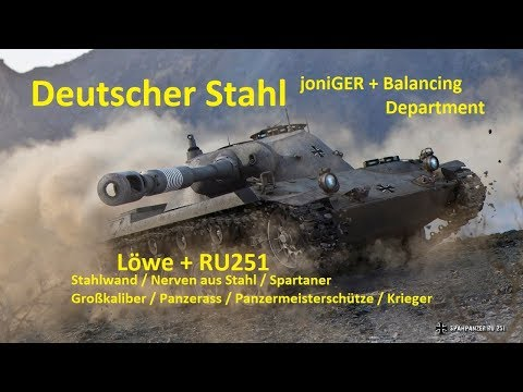 World of Tanks Gast-Replay 0214 (deutsch)  Deutscher Stahl 17 - Spannend und Megaknapp