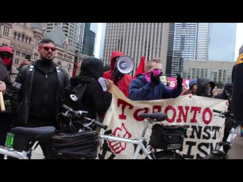FIGHT AT NATHAN PHILLIPS  Canadian Guys vs  Commies & ANTIFA members
