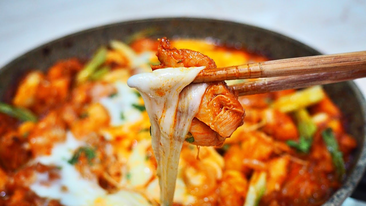 Resep Masakan Korea Ayam Pedas Cheese Buldak Ala Resto Fire Chicken Youtube