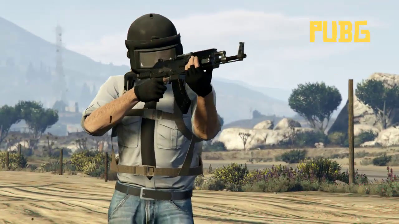 PUBG in GTA V Outfit | GTA 5 Doomsday Heist Military Outfit - YouTube