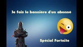 I'm a Fortnite subscriber banner