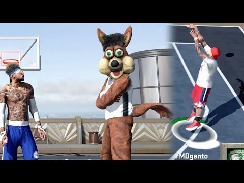 GOAT Jumpshot vs 99 OVR Legend Mascot! NBA 2K16 MyPark