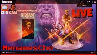 📺MenamesCho's LIVE Ps4 🗣 DIECAST v THANOS 💀 UK GIVEAWAY PSN🤙 Fortnite Battle Royale 11th May UK