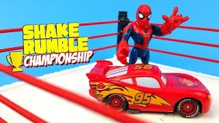 Disney Cars Color Changers vs Spiderman & Sinister Six Superheroes Toys Shake Rumble by KID CITY