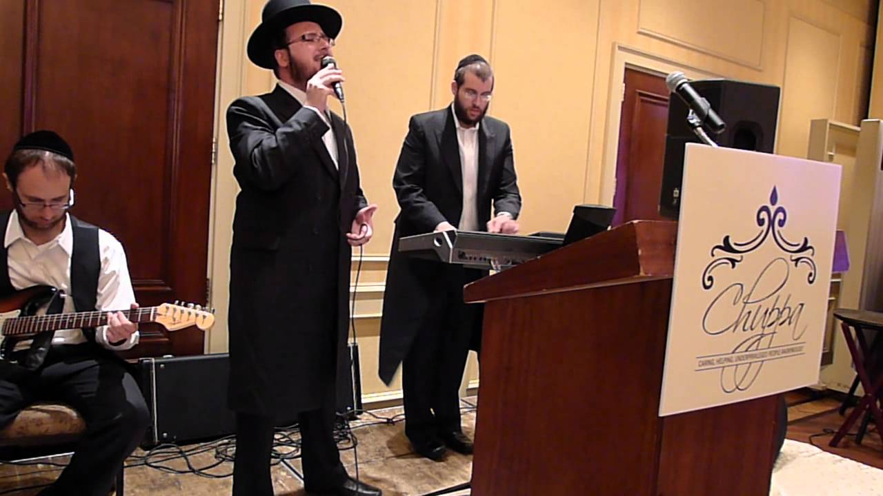 "Yoeli Greenfield singing at ""CHUPPA"" fundraiser event"