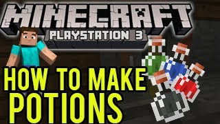 Minecraft Playstation, Wii U - How To Make Potions (Brewing Potions Tutorial)