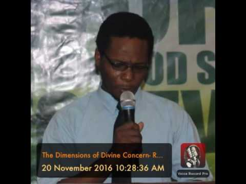 The Dimensions of Divine Concern- Rev. Temiloluwa Aliu