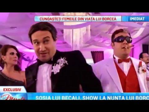 Sosia lui Becali - Mihai Bendeac, show la nunta lui Borcea