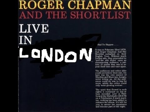 Roger Chapman , live, BBC radio 1 in concert. Broadcast Sat 5 January 6pm 1980.