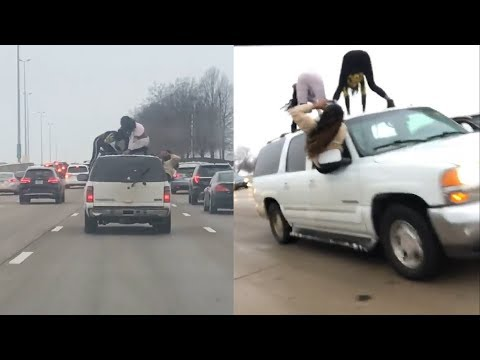 Corey & Patrick In The Morning - Two women caught twerking atop SUV on crowded interstate