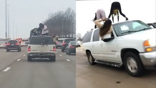 Women Twerking on Top of Moving SUV Get the Attention of Police