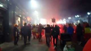 Scotland - Belgium : Fans arriving @ Central Station Glasgow