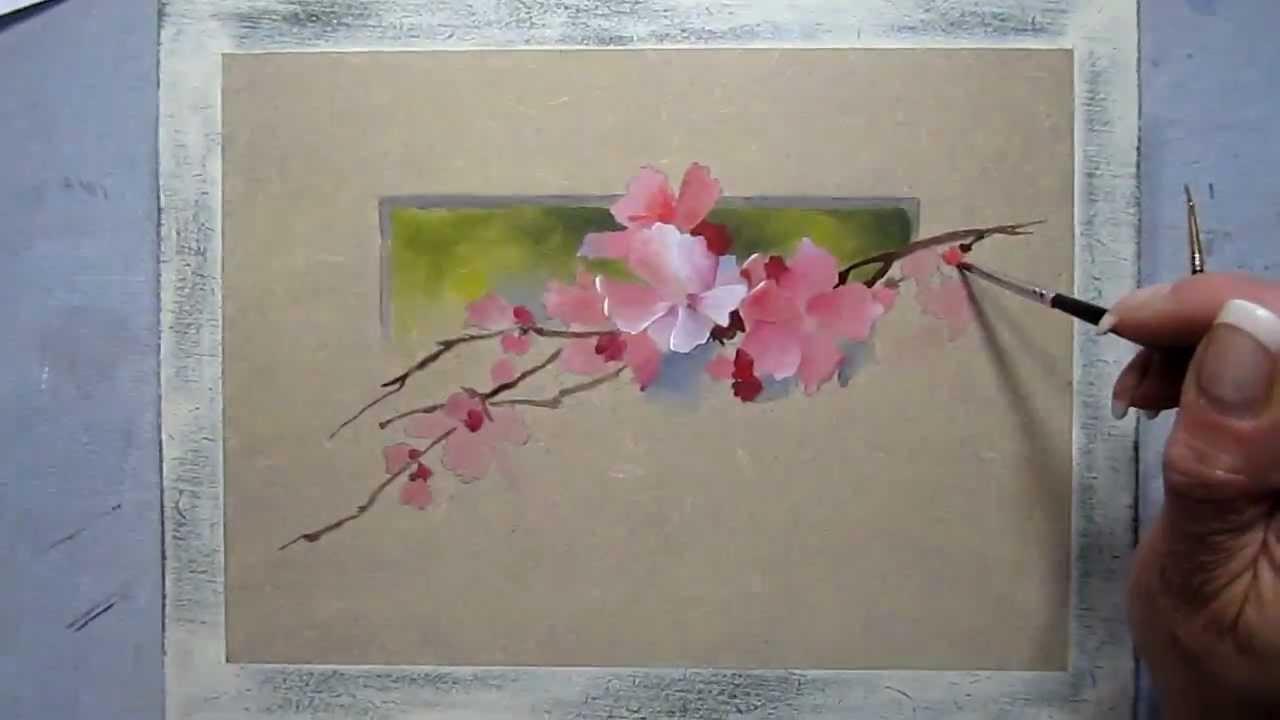 Peinture d corative petit trompe l 39 il aux glantines youtube - Trompe l oeil peinture ...