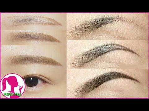 Hướng Dẫn 4 Cách  Vẽ Chân Mày Cơ Bản Cho Bạn Gái - How To : Eyebrow Tutorial
