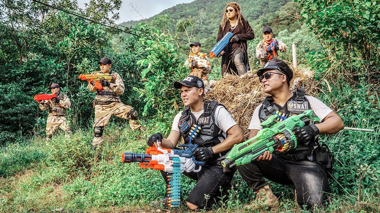 Nerf Guns War : Battle Nerf Guns S.W.A.T Men SEAL TEAM Fight Dangerous Criminal Group