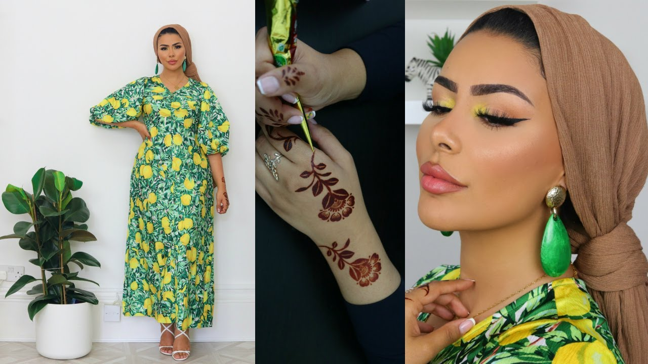 LEMON HOLIDAY-INSPIRED EID GLAM, HENNA & OUTFIT