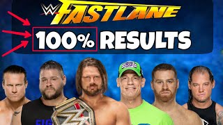 WWE Fastlane 2018 100% Results Predictions