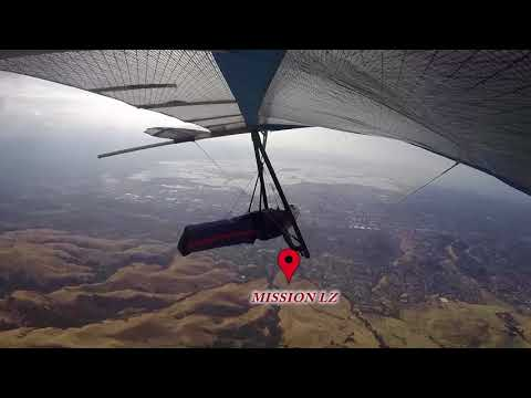 Hang-gliding like a Golden Eagle! Ed Levin to Mission (and back).