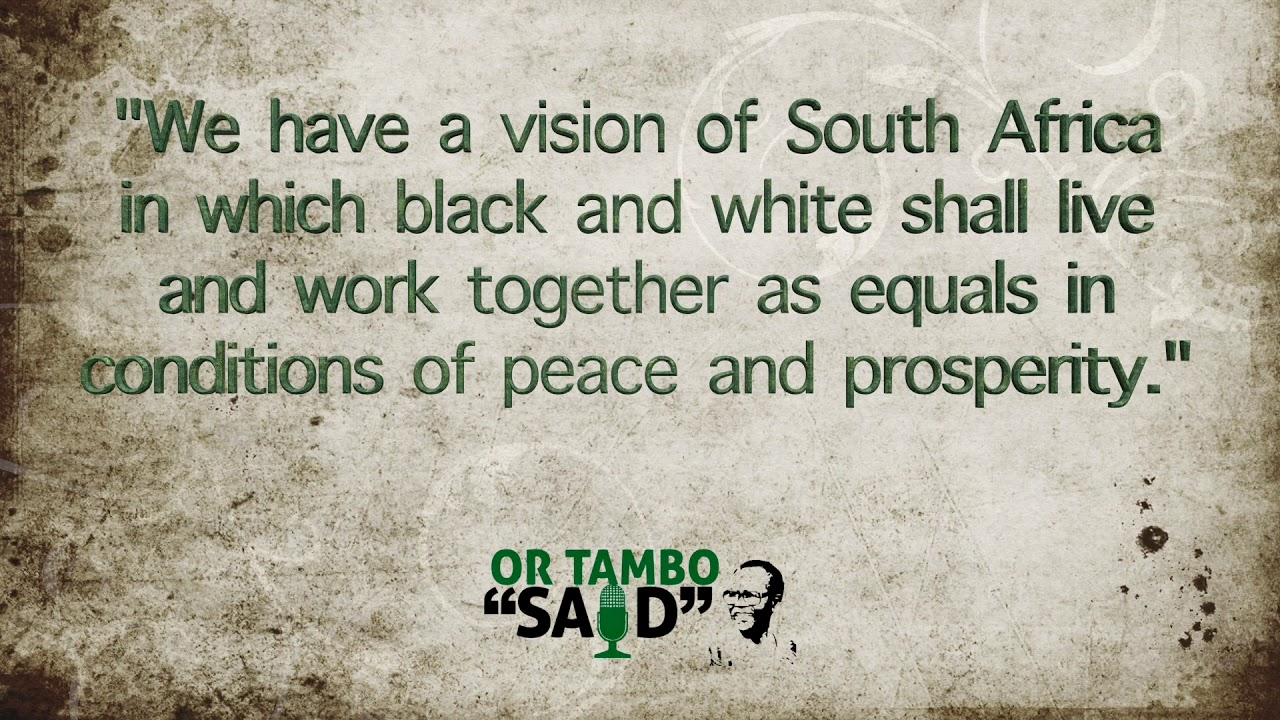 OR Tambo Quotes for Womens Month - YouTube