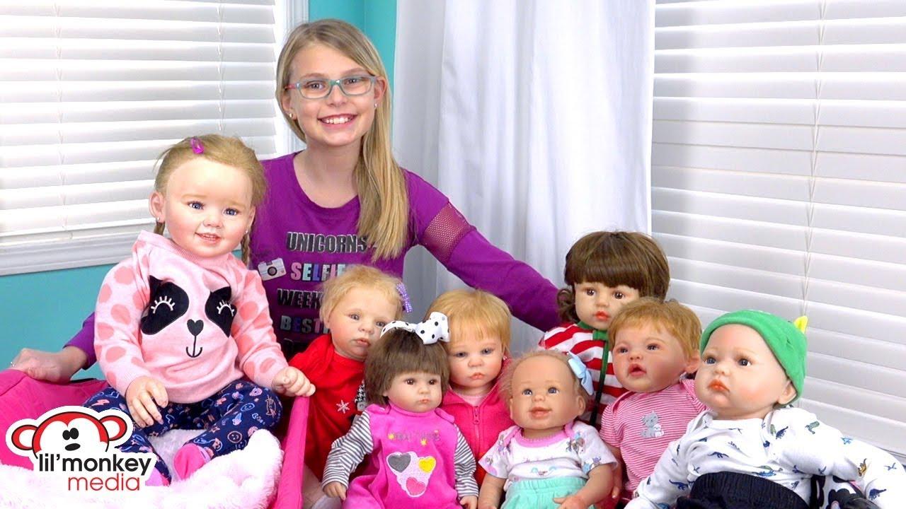 My Reborns Reborn Doll Collection 8 Reborn Baby Dolls Youtube