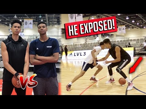 TRASH TALKING 15YR OLDS EXPOSED ME! CRAZY ANKLE BREAKER! 1V1 BASKETBALL vs RJ Hampton & Isaiah Todd