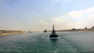 New Suez Canal: dredging work and a wall of rocks central sector June 15, 2015