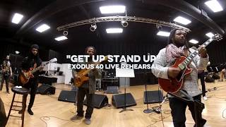 Ziggy Marley and Stephen Marley rehearse their father's classic tun...