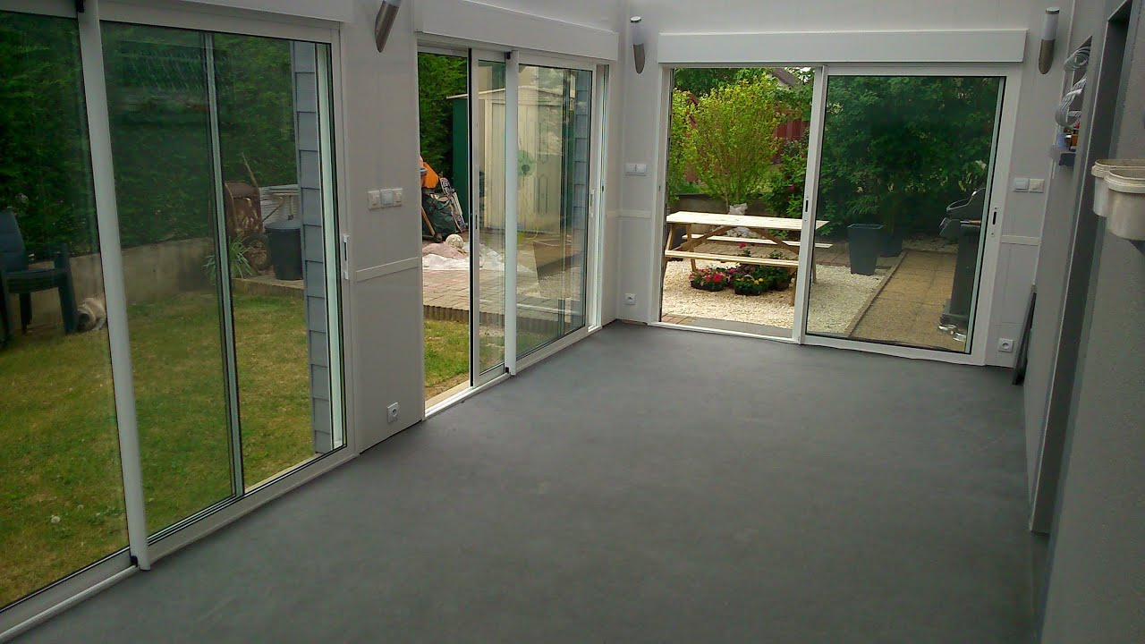 Une veranda a la place d 39 une terrasse aout 2013 youtube for Autoconstruction maison prix